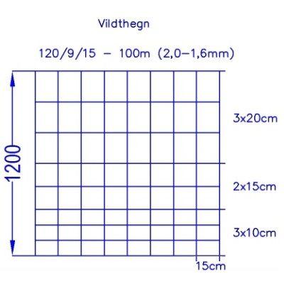 Vildthegn 120/9/15 HT (100m)