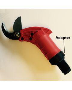 Adapter for pneumatisk beskæresaks