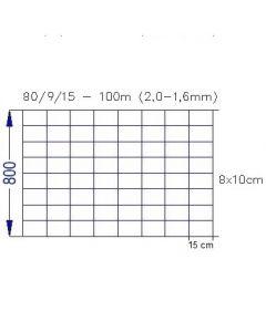 Dyrehegn 80/9/15 Hærdet tråd 100m
