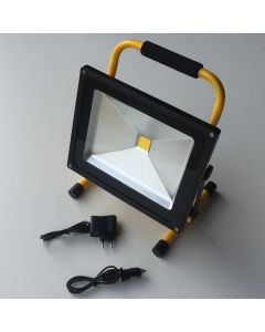 Led 50w  projektør / arbejdslampe med genopladeligt batteri. 5000 lumen