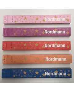 Juletræsmærke tyvek Nordmann m. stregkode og nr. 500 stk.