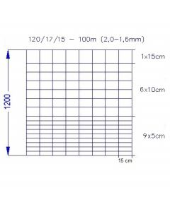 Vildthegn 120/17/15 HT (100m)