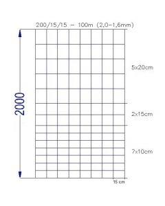 Vildthegn 200/15/15 HT rulle af 100 meter.