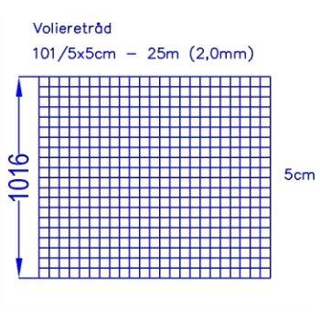 Volieretråd 101/5x5 (25m)