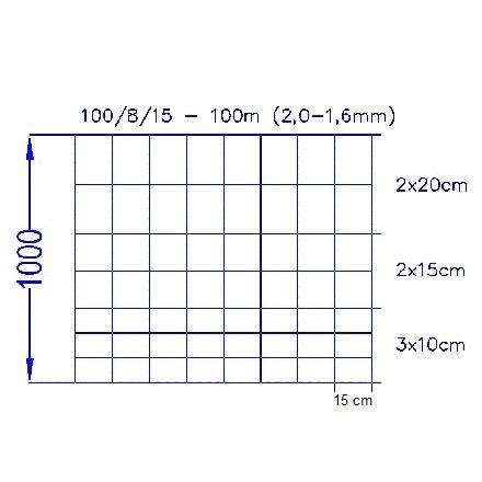 Vildthegn 100/8/15 HT (100m)