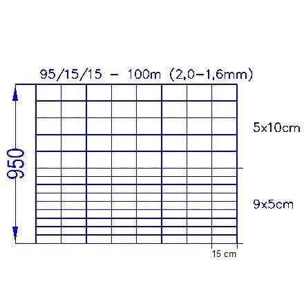 Vildthegn 95/15/15 HT (100m)